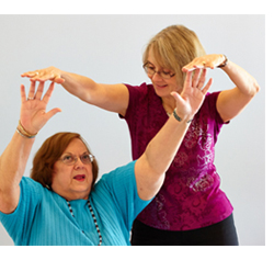 Carla working with Yoga Therapy Client