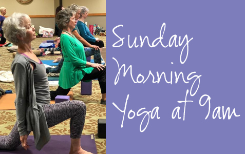 Sunday Morning Yoga – Now at 9:00am