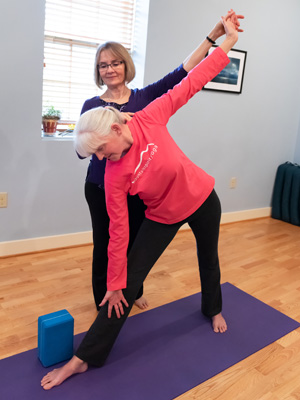 Carla working with Yoga Therapy Student