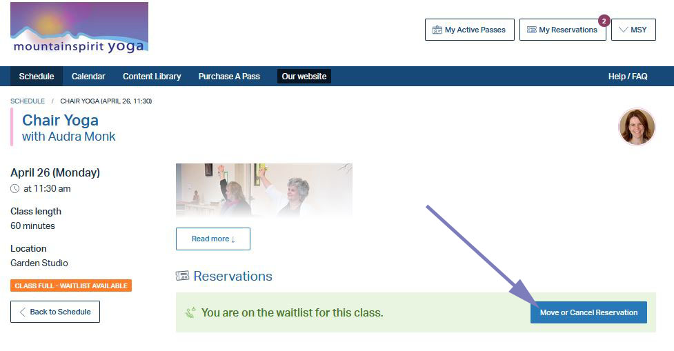 Move or Cancel Waitlisted Class
